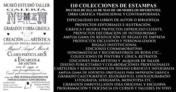 MUSEO  ESTUDIO TALLER GALERIA NUMEN GRABADOS Y OBRA GRAFICA